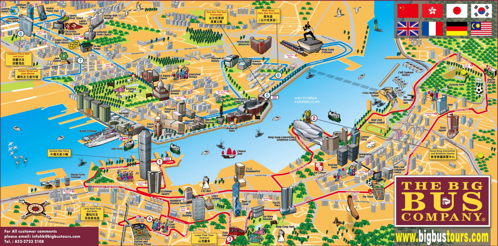Hong Kong Tourist Map within Hong Kong Tourist Map Printable