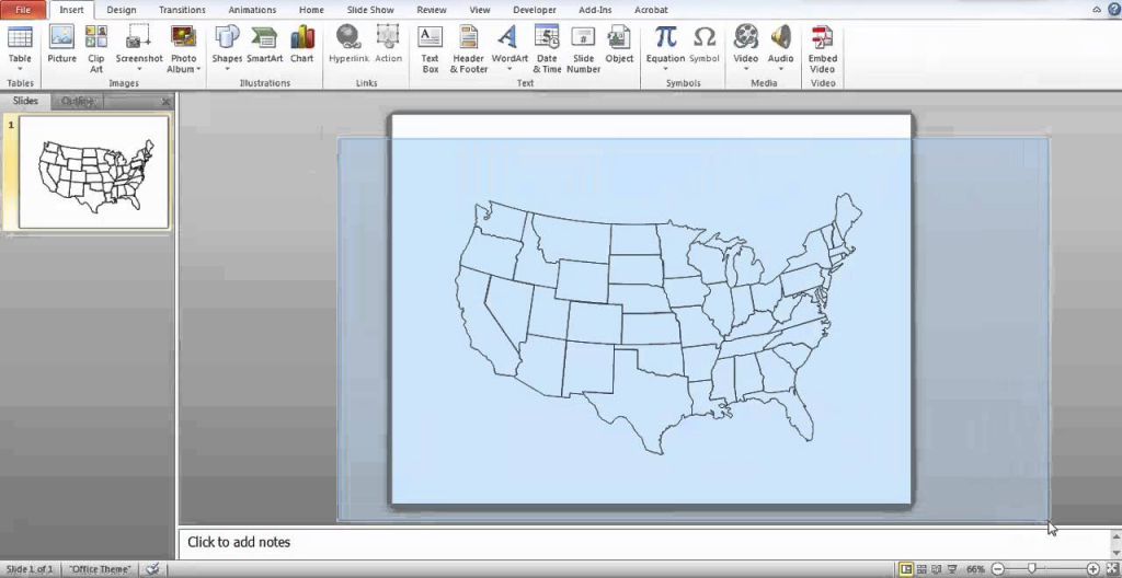 How To Make A Printable Map In Powerpoint - Youtube pertaining to How To Create A Printable Map