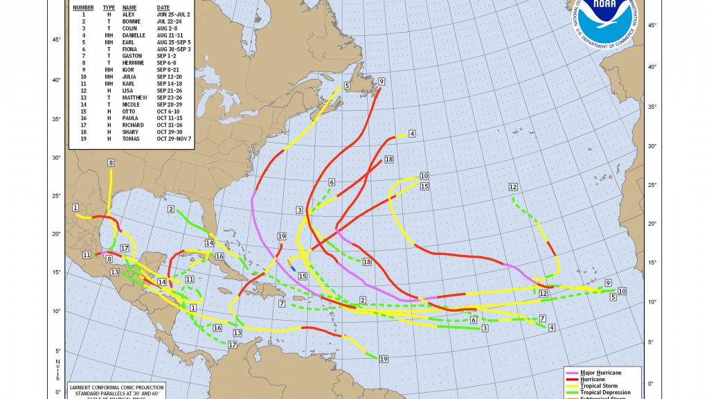 How To Use A Hurricane Tracking Chart within Printable Hurricane Tracking Map