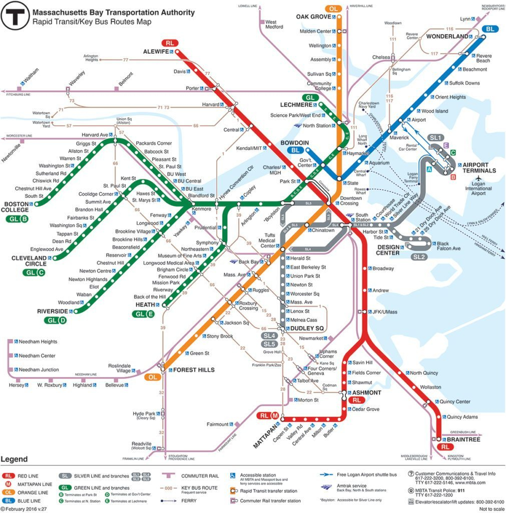 How To Use The Boston Subway | Map And Tips | Free Toursfoot inside Mbta Subway Map Printable
