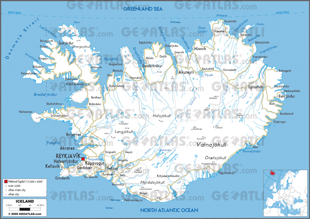 Iceland City Map And Travel Information | Download Free Iceland City Map with Free Printable Map Of Iceland