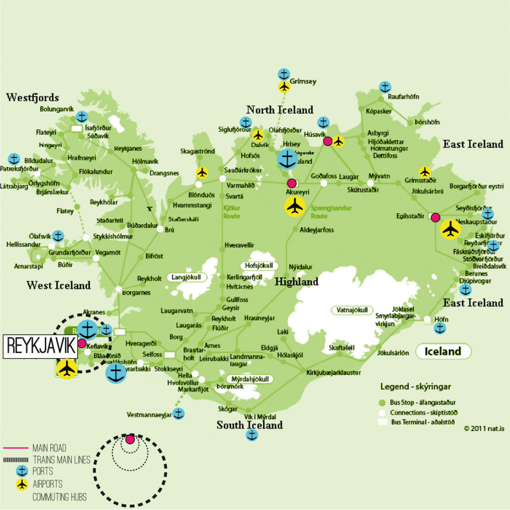 Iceland Map Printable And Travel Information | Download Free Iceland inside Free Printable Map Of Iceland