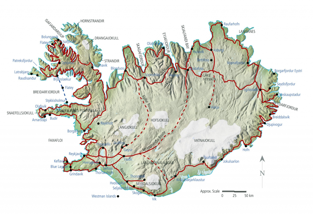 Iceland Maps | Printable Maps Of Iceland For Download regarding Printable Map Of Iceland