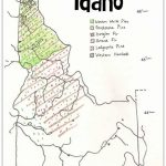Idaho Tree Distribution | Free Printables | Pinterest | Idaho, Maps Regarding Printable Tree Map