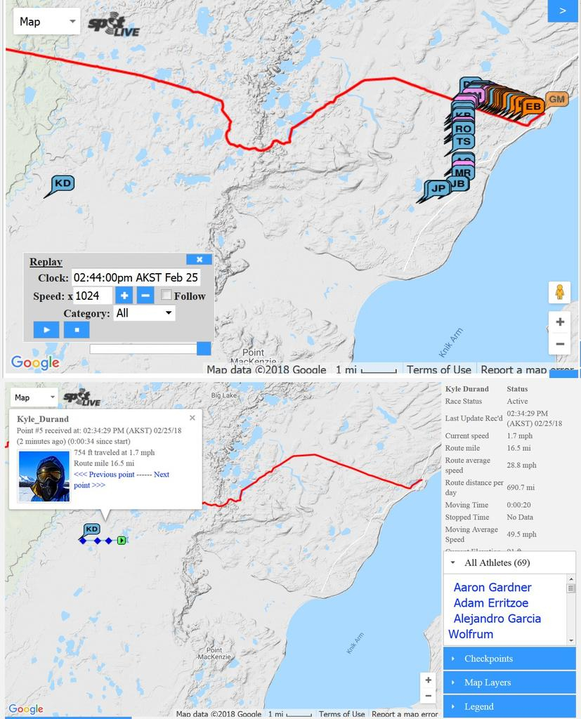 Iditarod Trail Invitational 2018- Mtbr throughout Printable Iditarod Trail Map