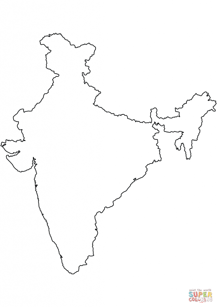 India Blank Outline Map Coloring Page | Free Printable Coloring Pages pertaining to Map Of India Outline Printable