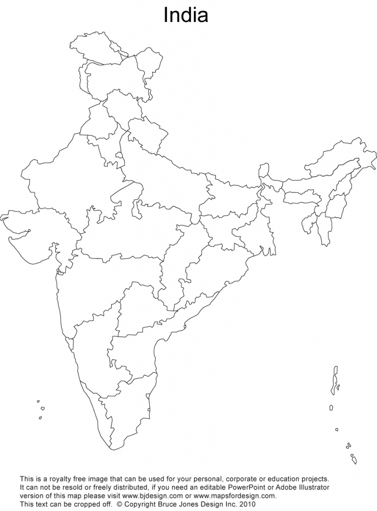 India Printable, Blank Maps, Outline Maps • Royalty Free with Printable Outline Map Of India