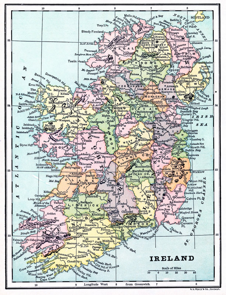 Instant Art Printable - Map Of Ireland - The Graphics Fairy pertaining to Free Printable Map Of Ireland
