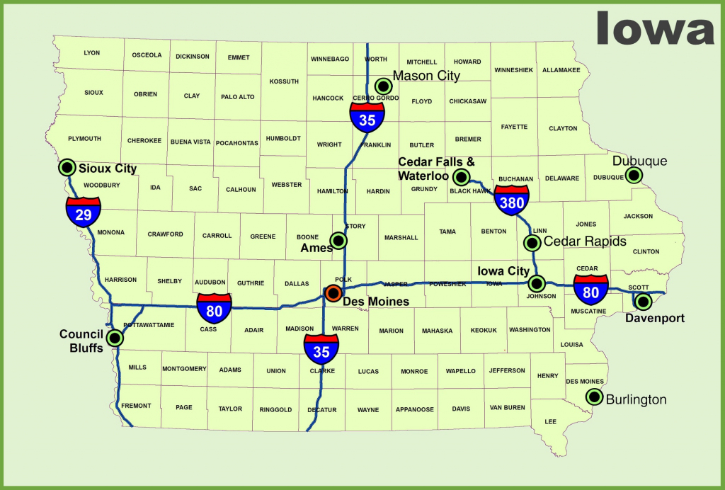 Iowa State Maps | Usa | Maps Of Iowa (Ia) for Printable Iowa Road Map