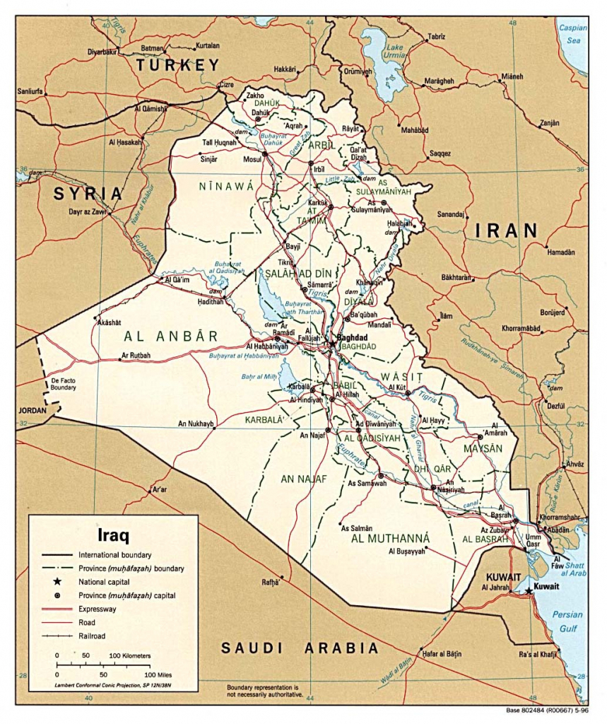 Iraq Maps - Perry-Castañeda Map Collection - Ut Library Online intended for Printable Map Of Iraq