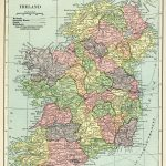 Ireland Map, Vintage Map Download, Antique Map, C. S. Hammond Regarding Printable Map Maker