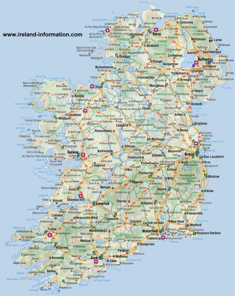 Ireland Maps Free, And Dublin, Cork, Galway with regard to Galway City Map Printable