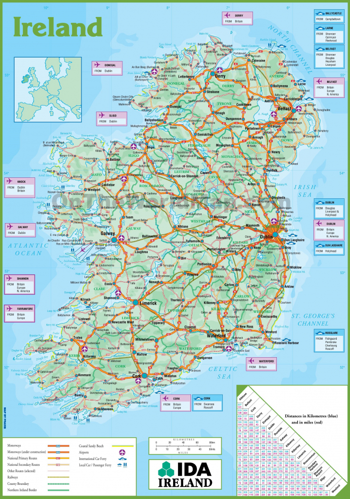 Ireland Maps | Maps Of Republic Of Ireland for Printable Map Of Ireland Counties And Towns