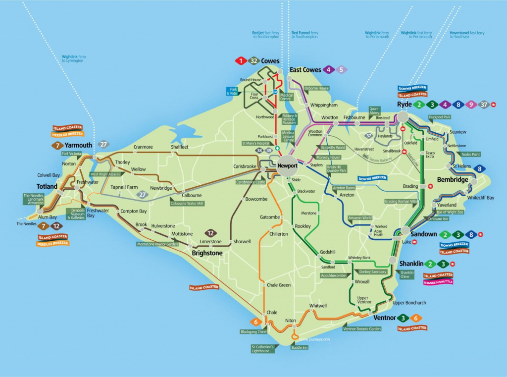 Isle Of White Map | Park Ideas regarding Printable Map Of Isle Of Wight