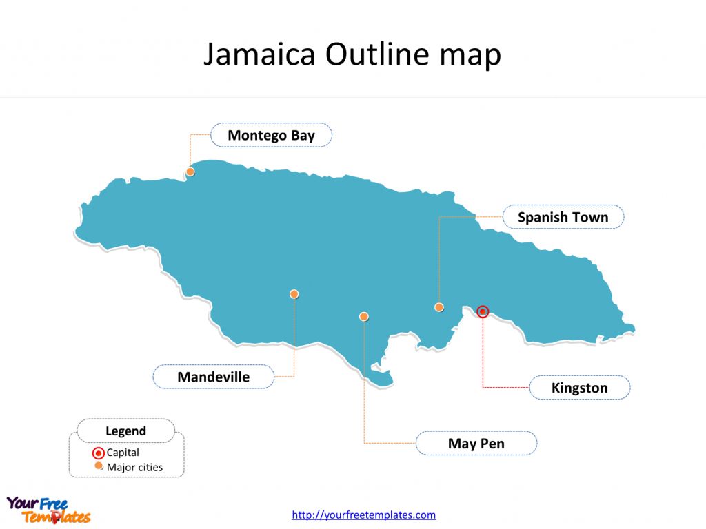 Jamaica Map Blank Templates - Free Powerpoint Templates with Free Printable Map Of Jamaica