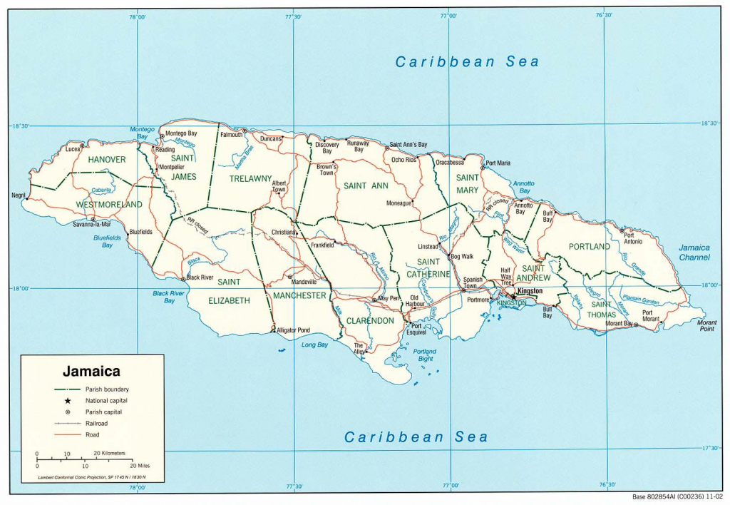 Jamaica Maps | Printable Maps Of Jamaica For Download for Free Printable Map Of Jamaica