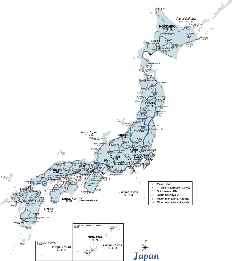 Japan Maps | Printable Maps Of Japan For Download intended for Printable Map Of Japan