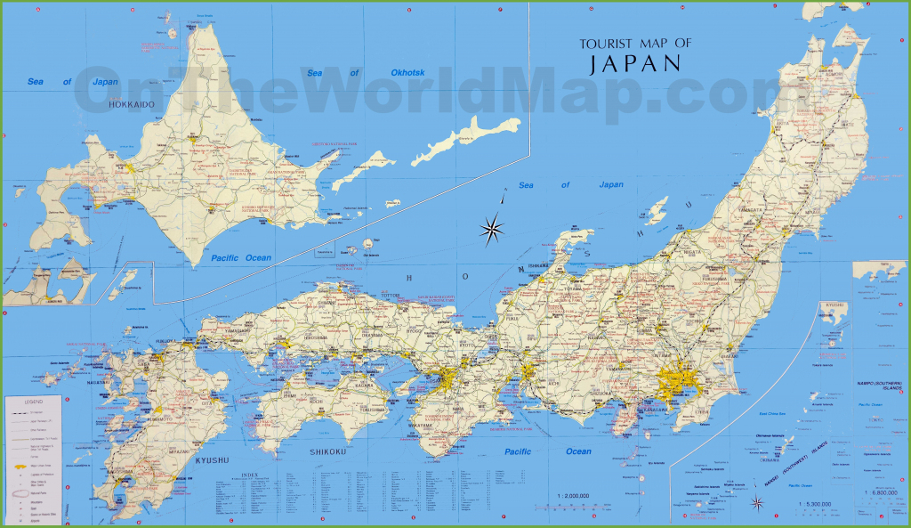Japan Tourist Map throughout Printable Map Of Japan With Cities