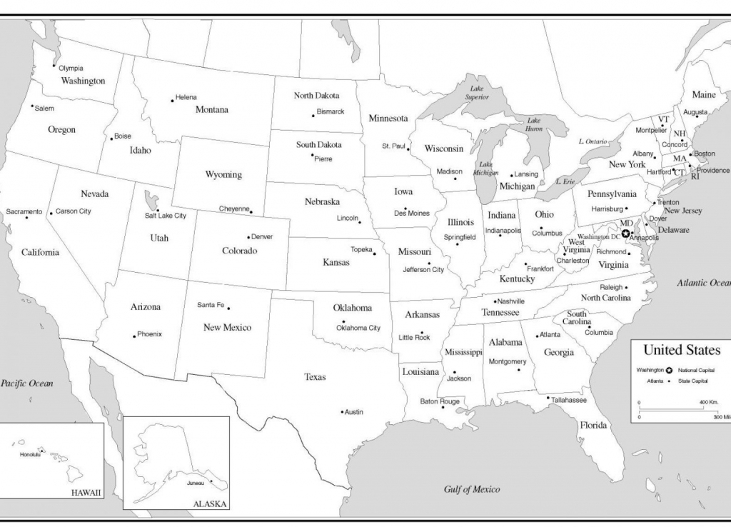 Just For Fun Us Map Printable Coloring Pages Gisetc United States with regard to State Capital Map Printable
