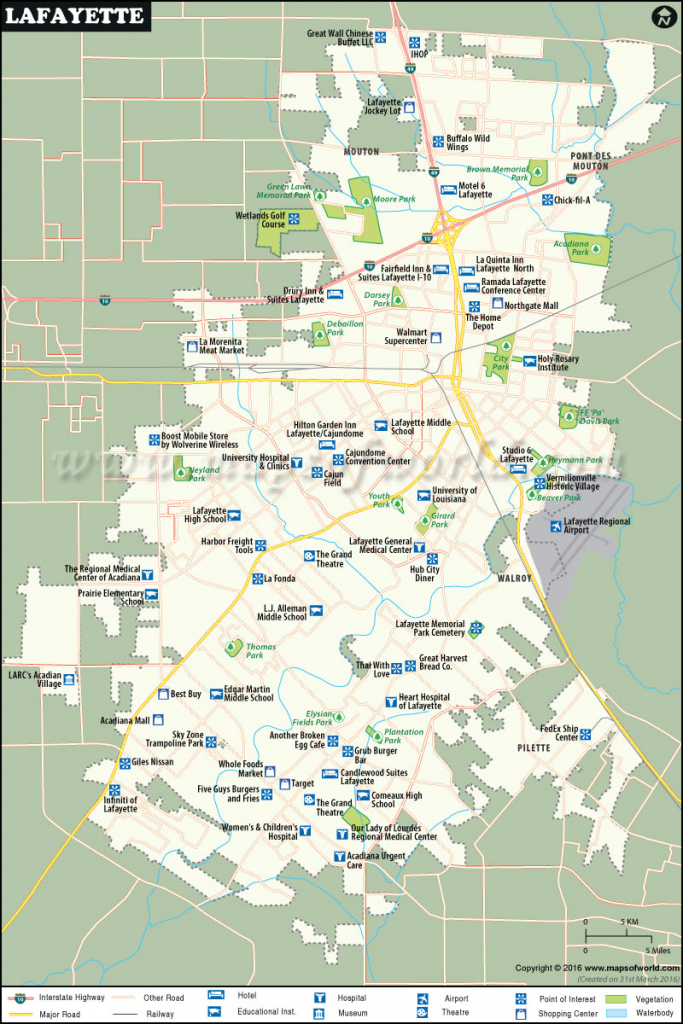 Lafayette Map |City Map Of Lafayette, Louisiana within Printable Map Of Lafayette La