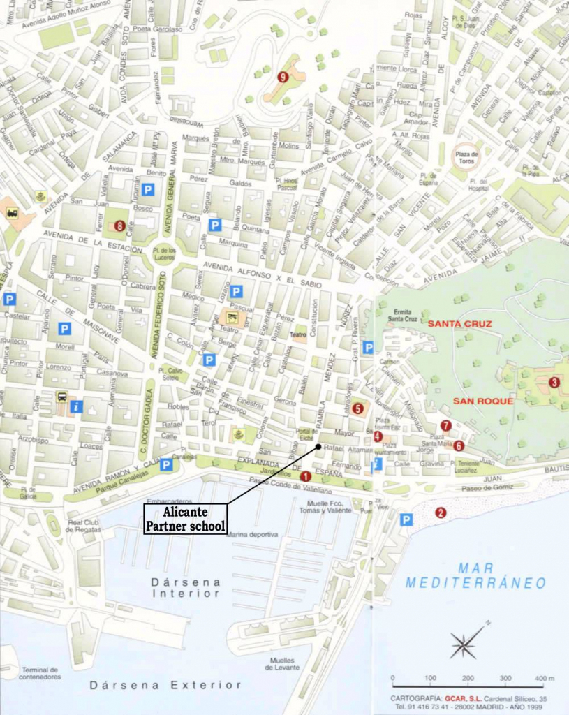 Large Alicante Maps For Free Download And Print | High-Resolution pertaining to Printable Street Map Of Nerja Spain