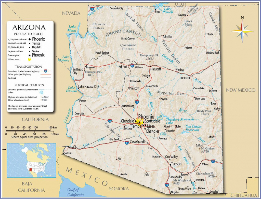 Large Arizona Maps For Free Download And Print | High-Resolution And inside Printable Map Of Arizona