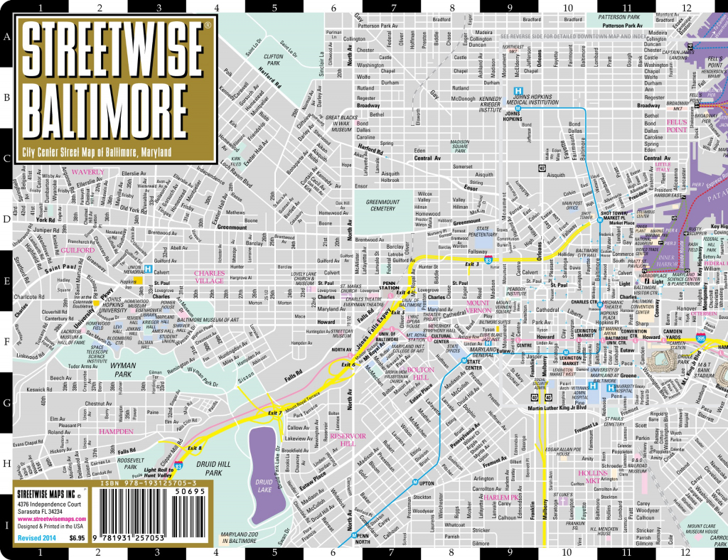 Large Baltimore Maps For Free Download And Print | High-Resolution in Printable Map Of Baltimore