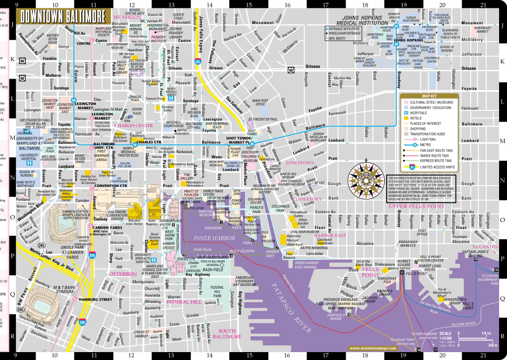 Large Baltimore Maps For Free Download And Print | High-Resolution intended for Printable Map Of Baltimore