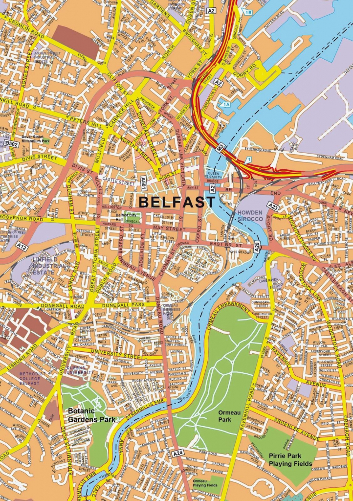 Large Belfast Maps For Free Download And Print | High-Resolution And intended for Belfast City Centre Map Printable