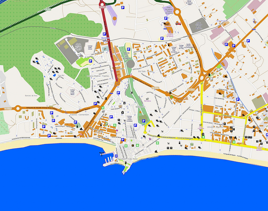Large Benidorm Maps For Free Download And Print | High-Resolution pertaining to Printable Street Map Of Nerja Spain