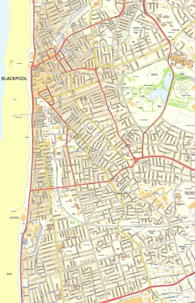 Large Blackpool Maps For Free Download And Print | High-Resolution in Blackpool Tourist Map Printable