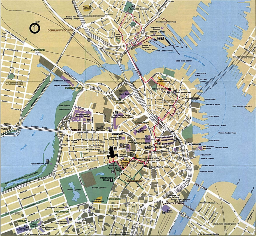 Large Boston Maps For Free Download And Print | High-Resolution And for Printable Map Of Boston