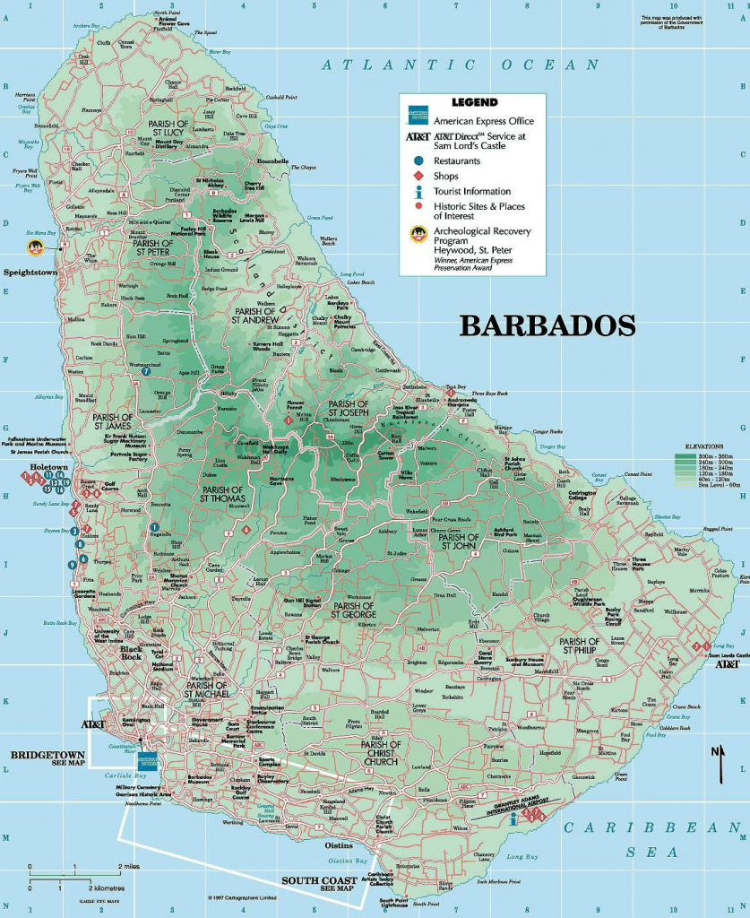Large Bridgetown Maps For Free Download And Print   High-Resolution for Printable Map Of Barbados