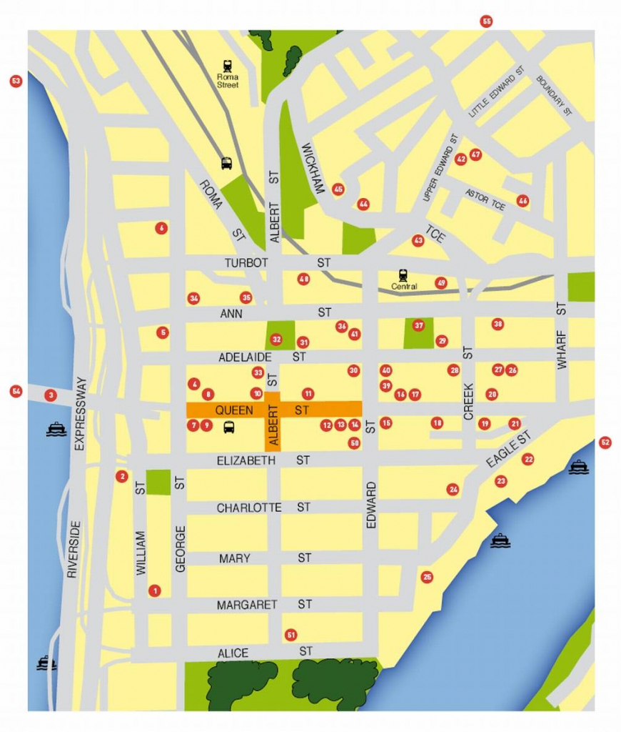 Large Brisbane Maps For Free Download And Print | High-Resolution with Brisbane Cbd Map Printable