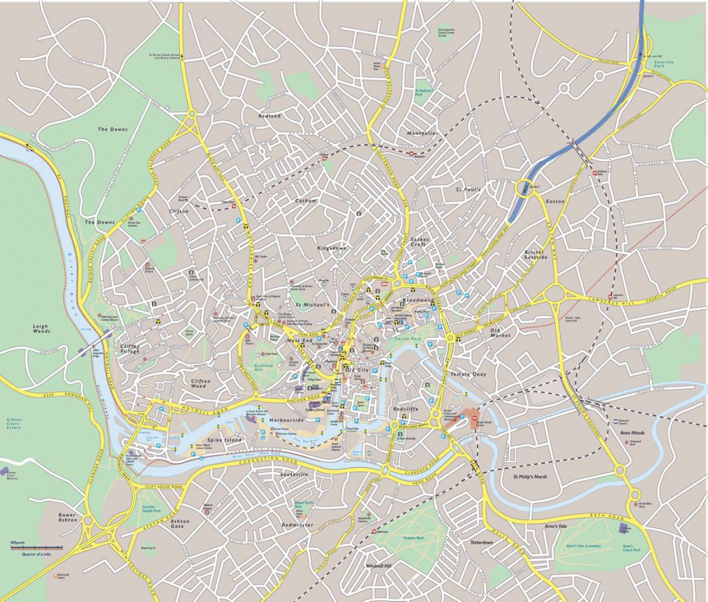 Large Bristol Maps For Free Download And Print | High-Resolution And inside Bristol City Centre Map Printable