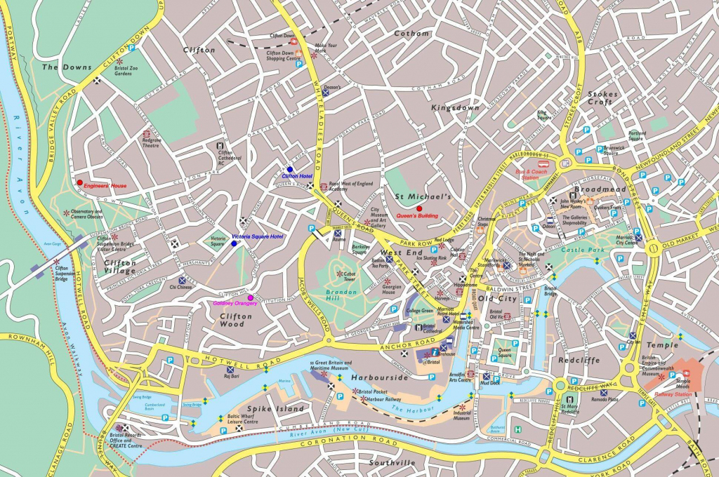 Large Bristol Maps For Free Download And Print | High-Resolution And pertaining to Bristol City Centre Map Printable