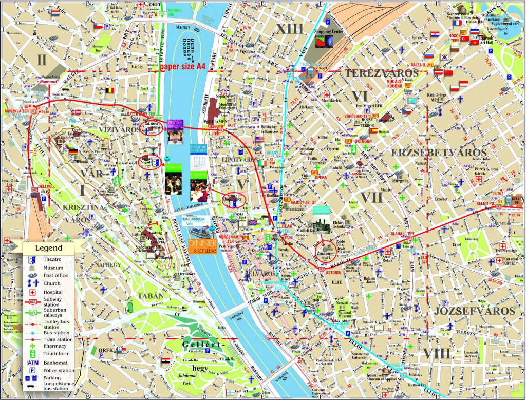 Large Budapest Maps For Free Download And Print | High-Resolution with Budapest Tourist Map Printable
