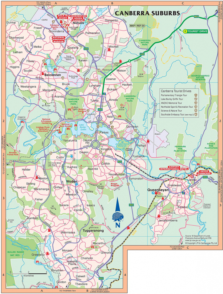 Large Canberra Maps For Free Download And Print | High-Resolution within Printable Map Of Canberra