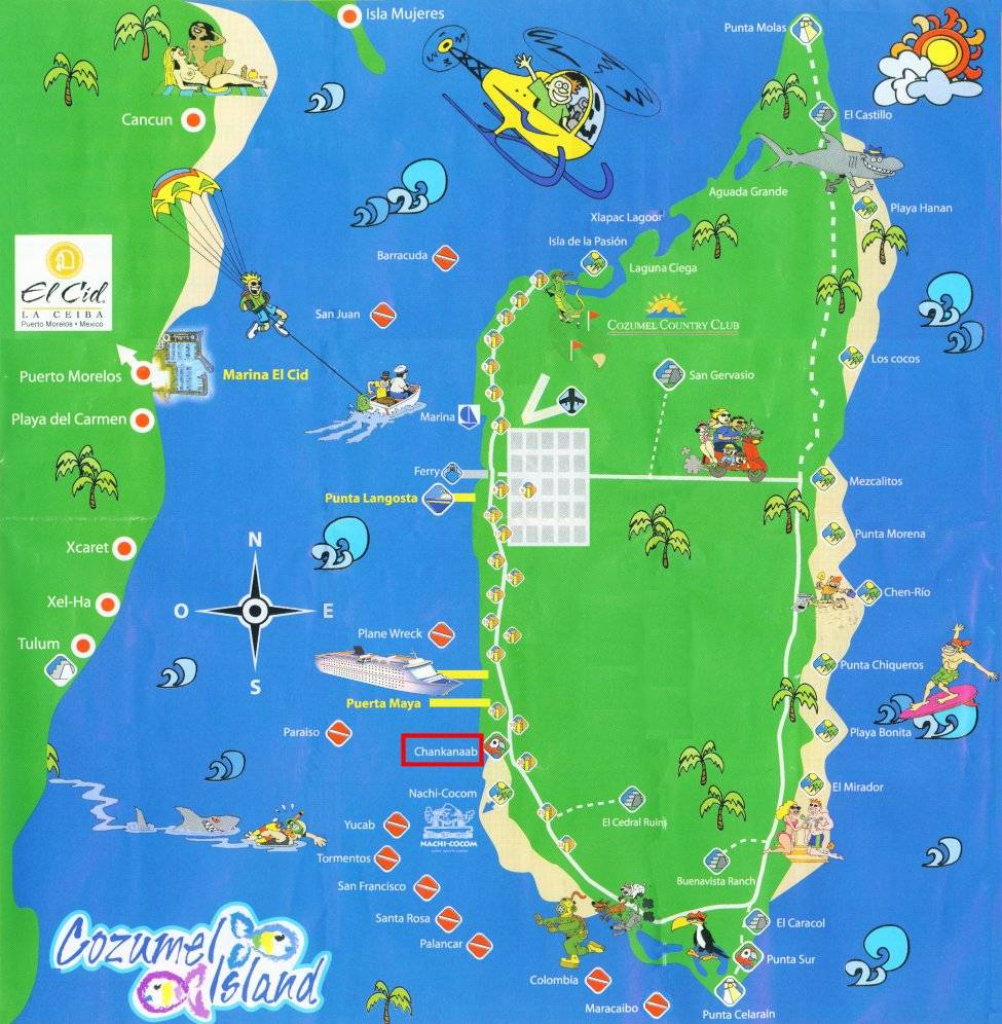 Large Cozumel Maps For Free Download And Print   High-Resolution And regarding Printable Map Of Cozumel Mexico