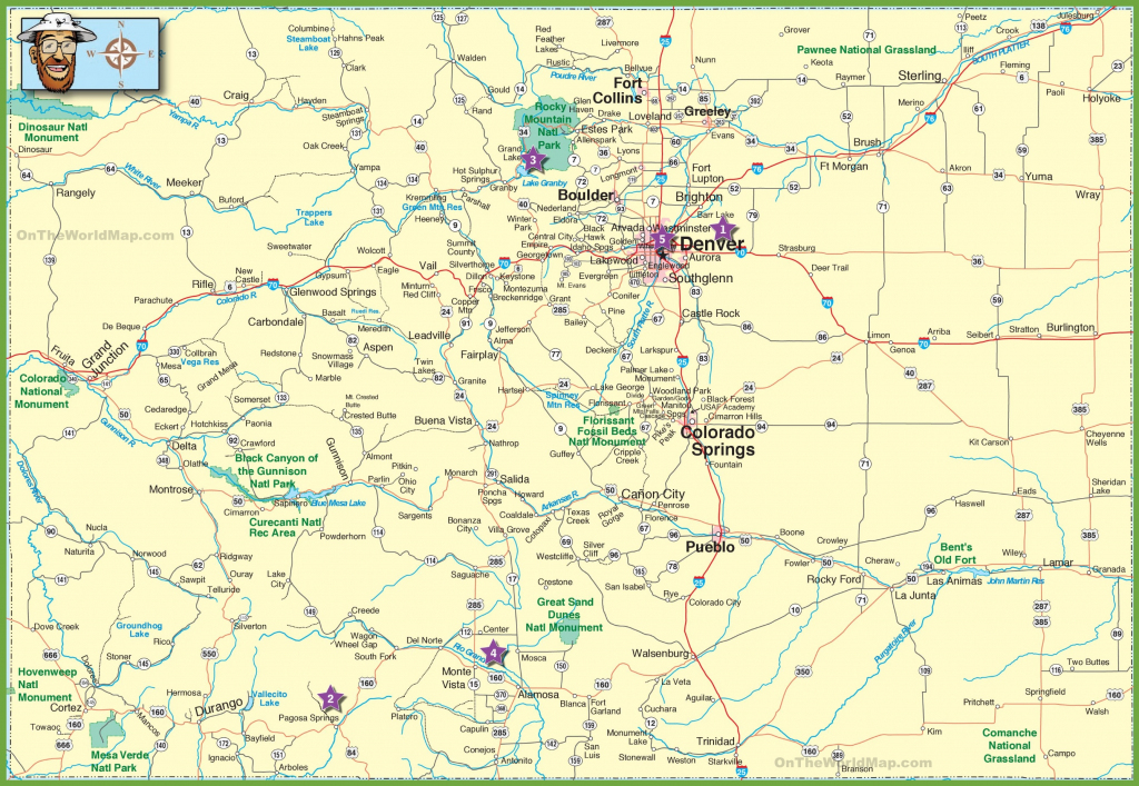 Large Detailed Map Of Colorado With Cities And Roads with regard to Printable Map Of Colorado Cities