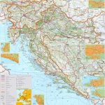 Large Detailed Map Of Croatia With Cities And Towns For Printable Map Of Croatia