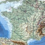 Large Detailed Map Of France With Cities Regarding Printable Road Map Of France