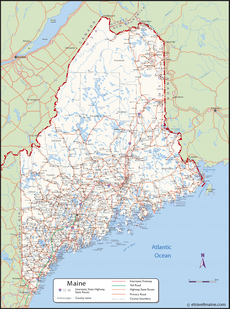 Large Detailed Map Of Maine With Cities And Towns regarding Maine State Map Printable