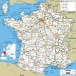 Large Detailed Road Map Of France With All Cities And Airports For Printable Road Map Of France