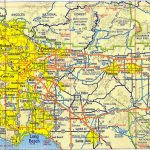 Large Detailed Road Map Of Los Angeles Of Free Print Map A Map Of Regarding Printable Map Of Los Angeles