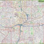 Large Detailed Street Map Of Atlanta Throughout Printable Map Of Atlanta