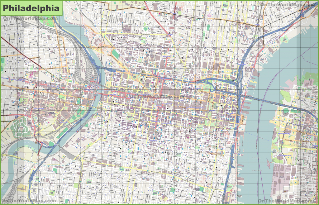Large Detailed Street Map Of Philadelphia throughout Printable Map Of Philadelphia
