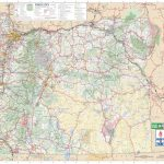 Large Detailed Tourist Map Of Oregon With Cities And Towns Within Printable Map Of Oregon