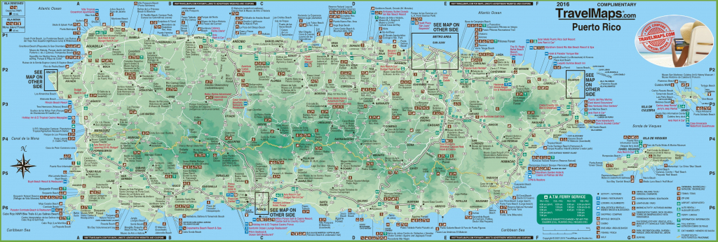 Large Detailed Tourist Map Of Puerto Rico With Cities And Towns in Printable Map Of Puerto Rico With Towns