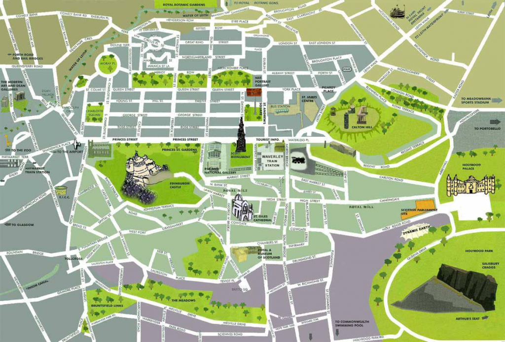 Large Edinburgh Maps For Free Download And Print | High-Resolution throughout Printable Map Of Edinburgh